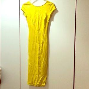 Yellow sleeve Zara midi